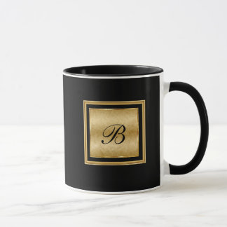 Classy Monogram Elegant Name Iinitials Mug