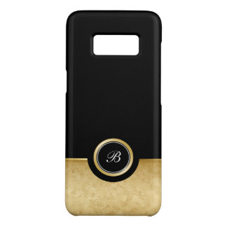 Classy Monogram Gold And Black Case-Mate Samsung Galaxy S8 Case