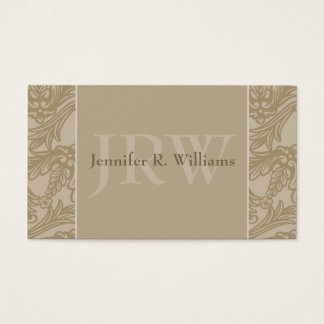 Classy Monogram Latte Business Card