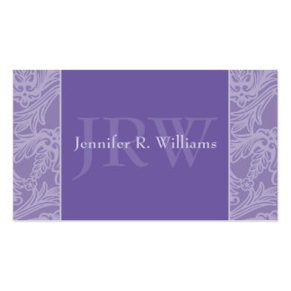 Classy Monogram Periwinkle Business Card