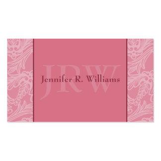 Classy Monogram Pink Business Card