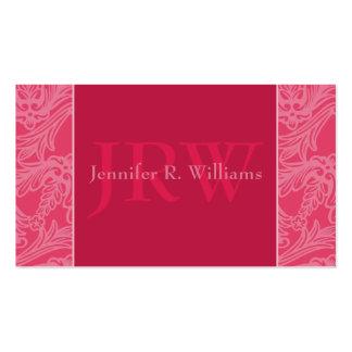 Classy Monogram Rose Business Card