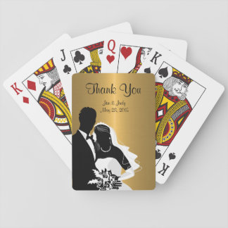 Classy Monogram Wedding Favors Playing Cards