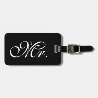 Classy Mr. Black Luggage Tag