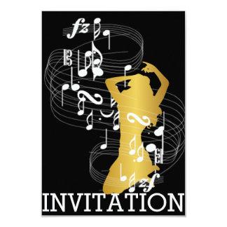 Classy Musical Dance Cabaret Vip Girl Invitation