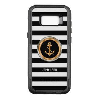 Classy Nautical Monogram Style OtterBox Commuter Samsung Galaxy S8+ Case