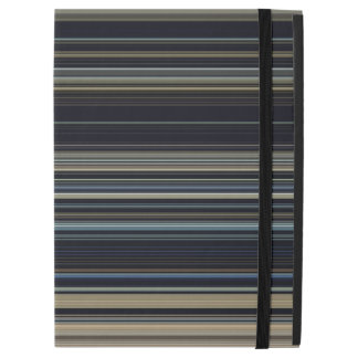 "Classy Navy and Gold Multicolor Stripes iPad Pro 12.9"" Case"