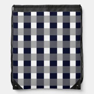 Classy Navy Drawstring Bag