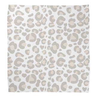 Classy Neutral Cheetah Print Bandana