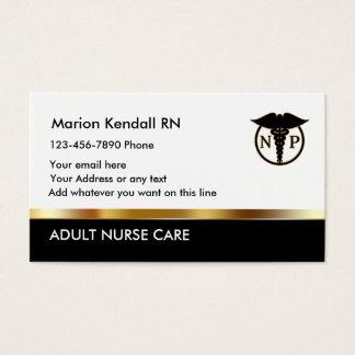 Classy Nurse Practitioner Design Business Card