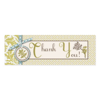 Classy Olive TY Skinny Gift Tag Business Card
