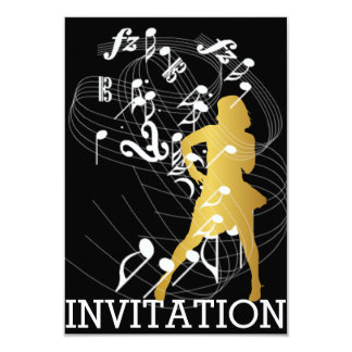 Classy Party Dance Birthday Music Vip Invitation