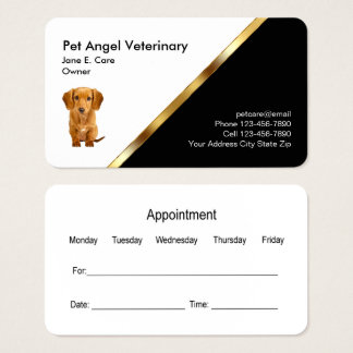 Classy Pet Business Card Appointment Template