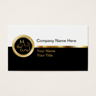 Classy Pet Service Business Cards