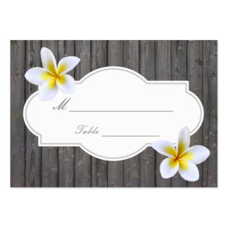 Classy Plumeria Flowers Beach Wedding Place Card Pack Of Chubby Business Cards