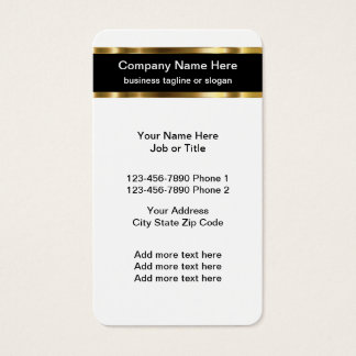 Classy Professional Business Card Template