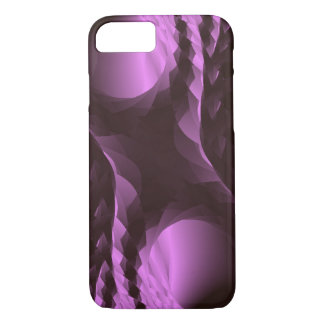 Classy Purple Black Abstract iPhone 8/7 Case