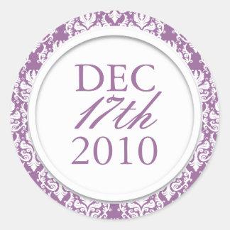 Classy Purple Wedding Stickers