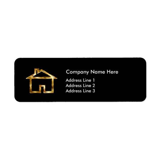 Classy Real Estate Agent Modern Design Return Address Label