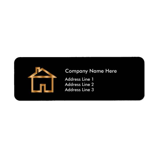 Classy Real Estate Agent Simple Layout Return Address Label
