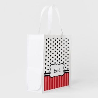 Classy, Red, and Customizable Reusable Grocery Bag