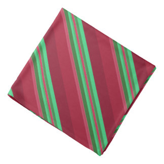 Classy Red and Green Stripes Bandana