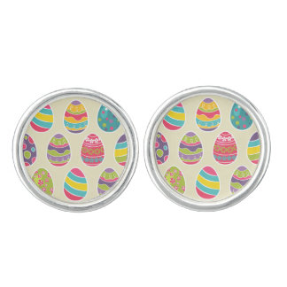 Classy Retro Easter Eggs Happy Easter Day Cuff Links