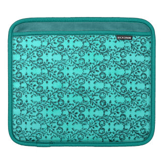 Classy Retro Sissy Vintage Floral Teal Peacock Sleeve For iPads