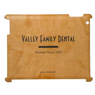Classy Rustic Orange Dental Practice Designer iPad Case