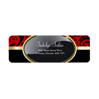 Classy Salon and Spa Return Address Labels