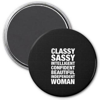 Classy Sassy Confident 7.5 Cm Round Magnet