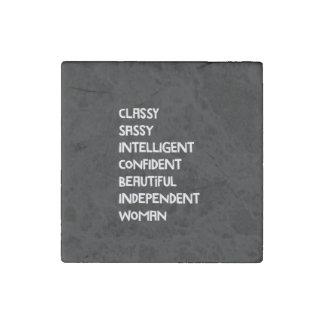 Classy Sassy Confident Stone Magnet