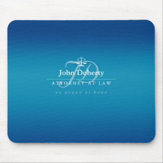Classy Scales of Justice | Blue Mouse Pad
