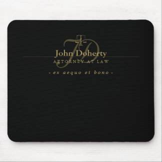 Classy Scales of Justice   Gold Mouse Pad