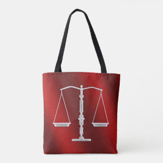 Classy Scales of Justice | Graphic Metallic Tote Bag