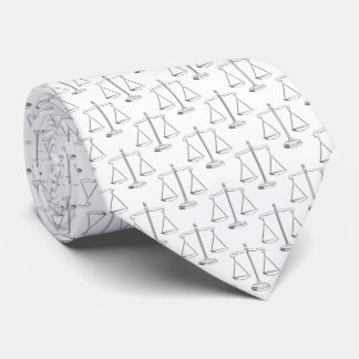 Classy Scales of Justice Pattern   Law Tie