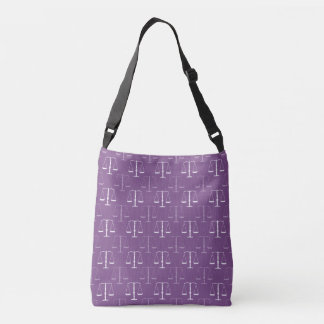 Classy Scales of Justice Pattern | Lawyer Gifts Crossbody Bag