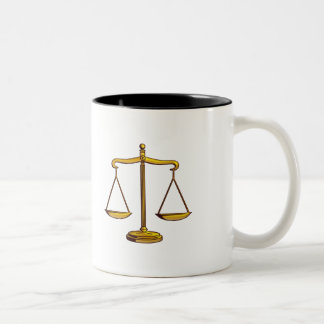 Classy Scales of Justice Two-Tone Coffee Mug