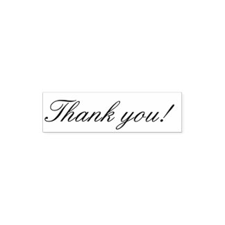 Classy Script Thank You Self-inking Stamp
