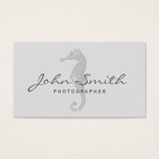 Classy Seahorse Photographer Business Card