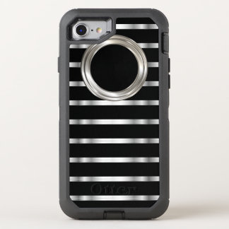 Classy Silver And Black OtterBox Defender iPhone 8/7 Case