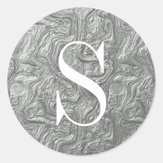Classy Silver Monogram Envelope Seals