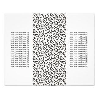 Classy Snow Leopard Print Tri-Fold Flyers