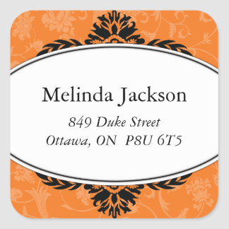 Classy Square Address Labels