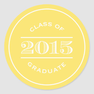 Classy Stamp in Yellow | Graduation Sticker