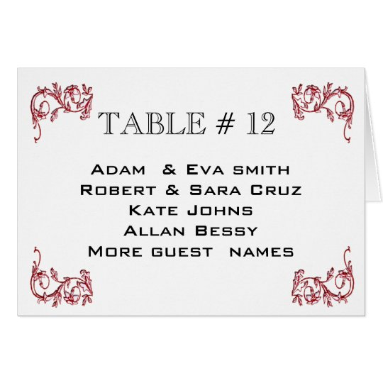 Classy Table number wedding seating