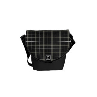 Classy Tan and Black Plaid Mini Bag Messenger Bag