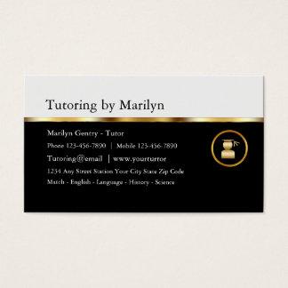 Classy Teacher Tutoring Business Cards