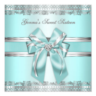 Classy Teal and Silver Invite