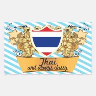 Classy Thai Rectangular Sticker